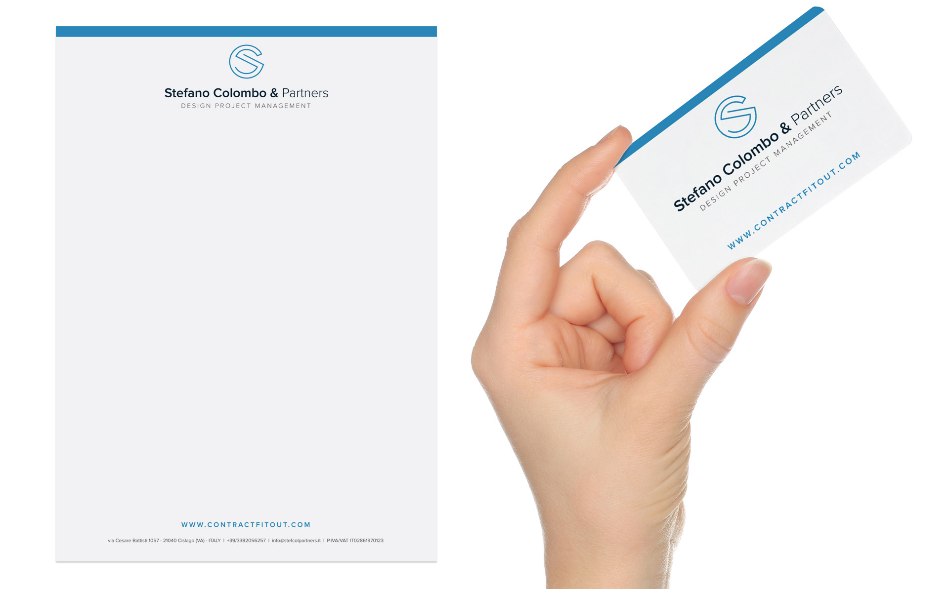 Creation of a letterhead and businesscard