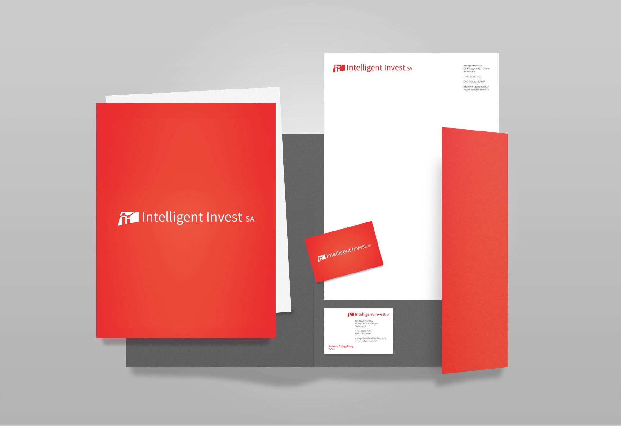 Estremamente Identity design - Intelligent Invest SA - startup design pro NR11