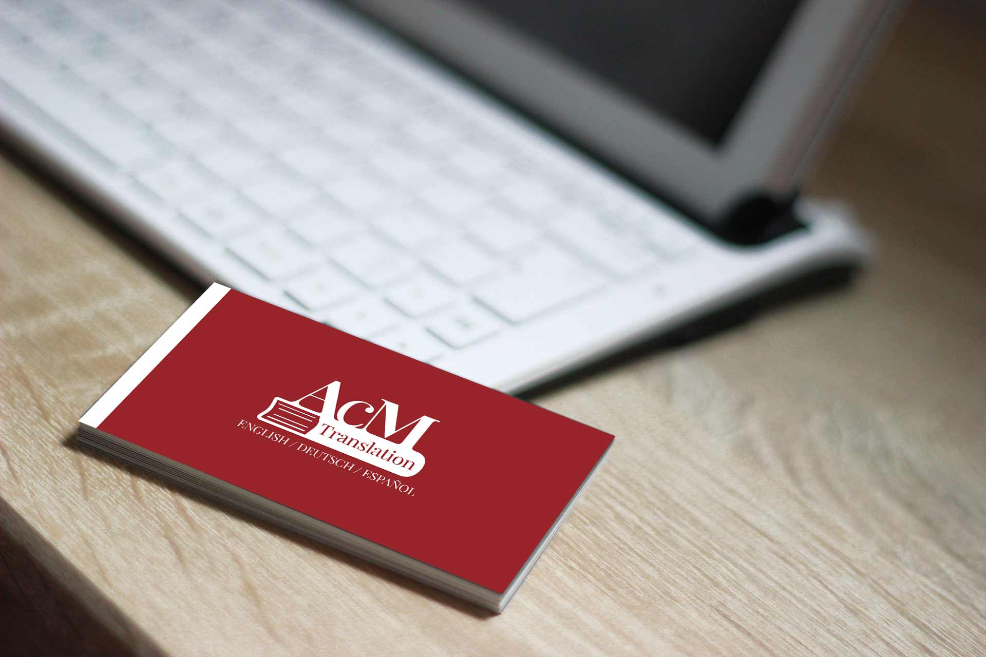 Logo creation and business card for freelance interpreter design professional