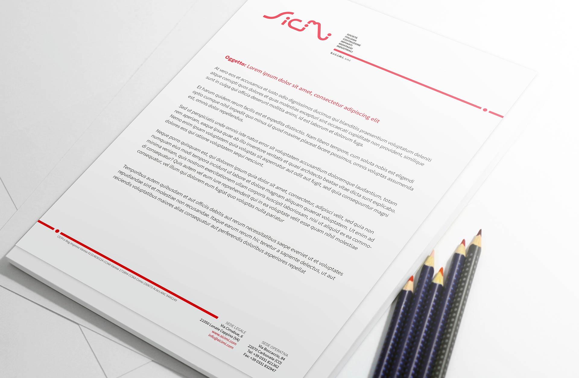 Corporate image design - Letterhead