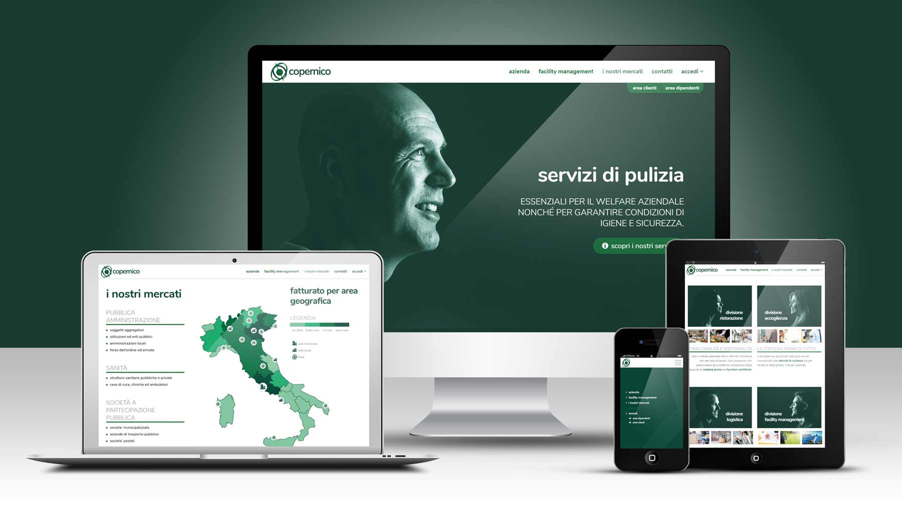 corporate identity website copernico