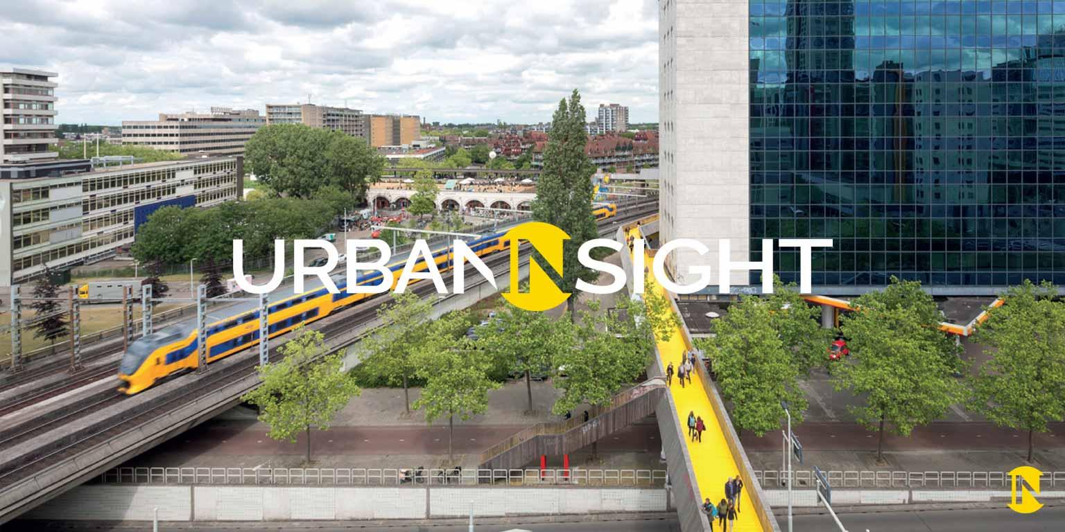 urban logo design on photo