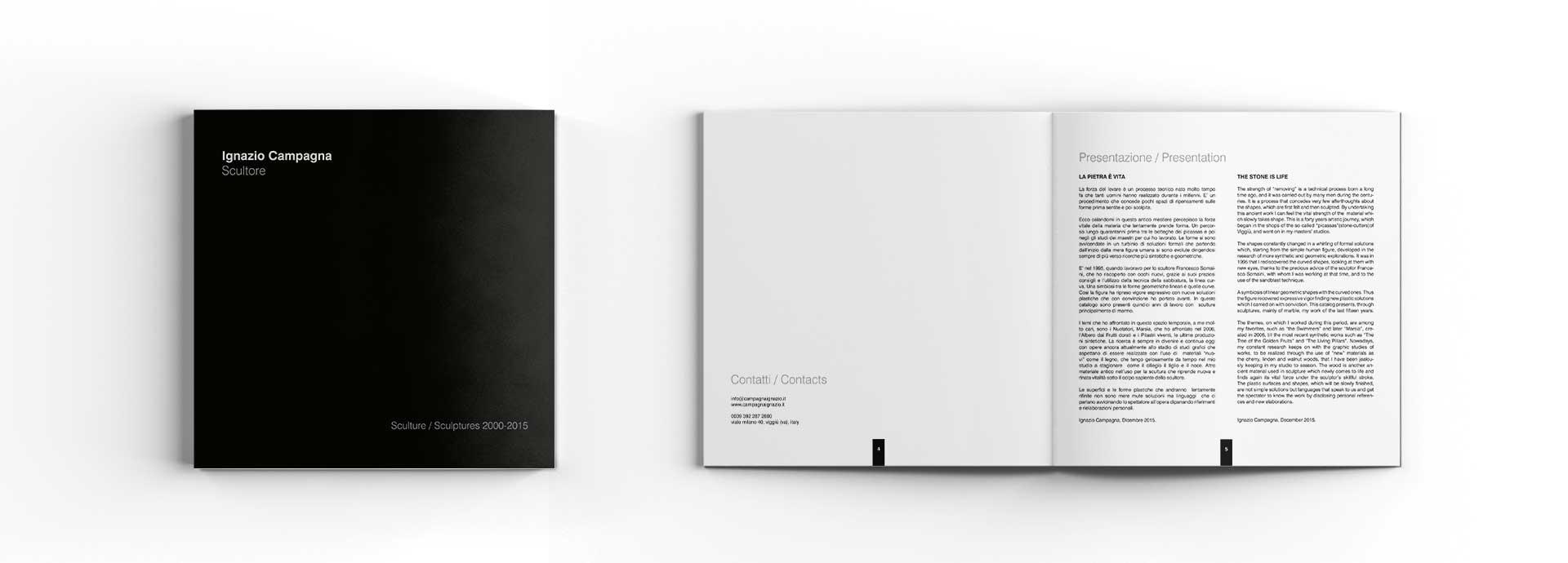 Studio grafico catalogo artista