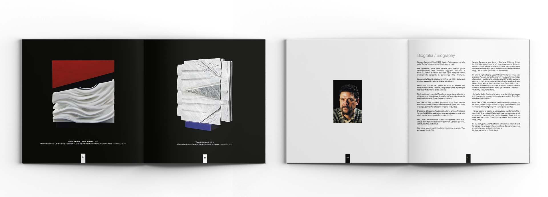Studio garfico catalogo per artista