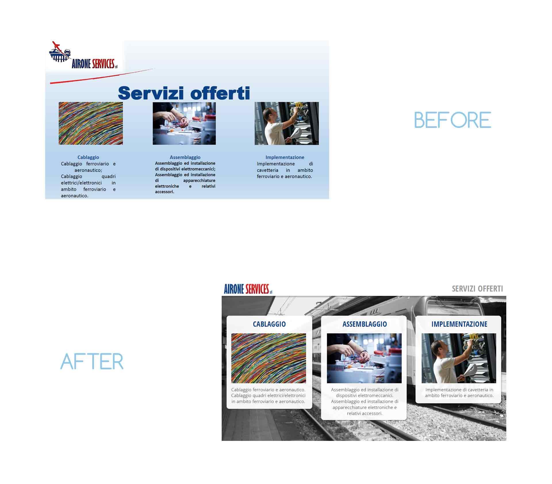 design presentazione aziendale powerpoint