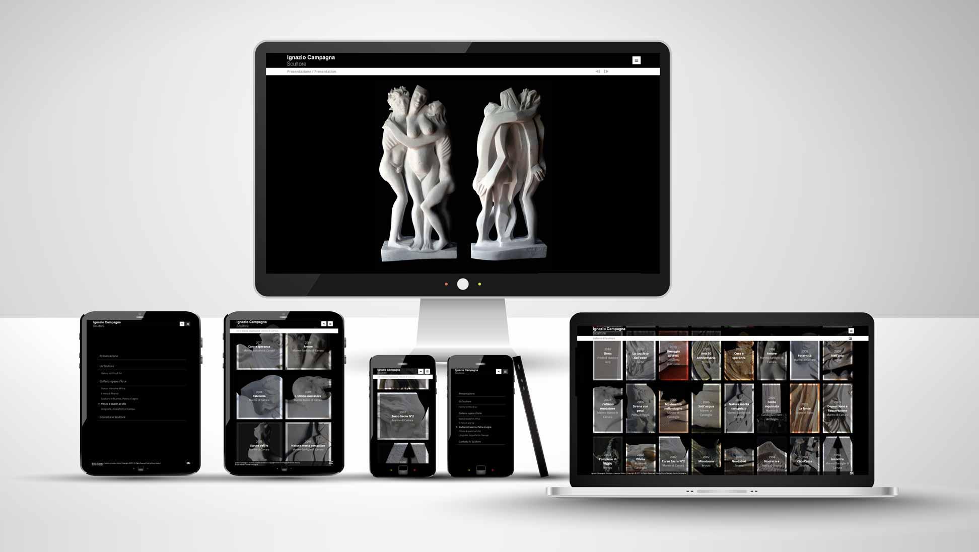 Studio grafico sito internet per artista