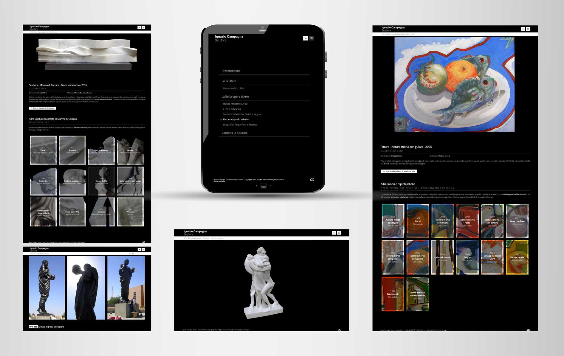 Graphic design and responsive art gallery website