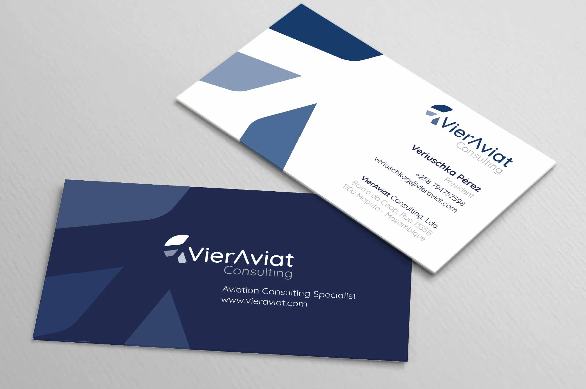 Design modern business card
