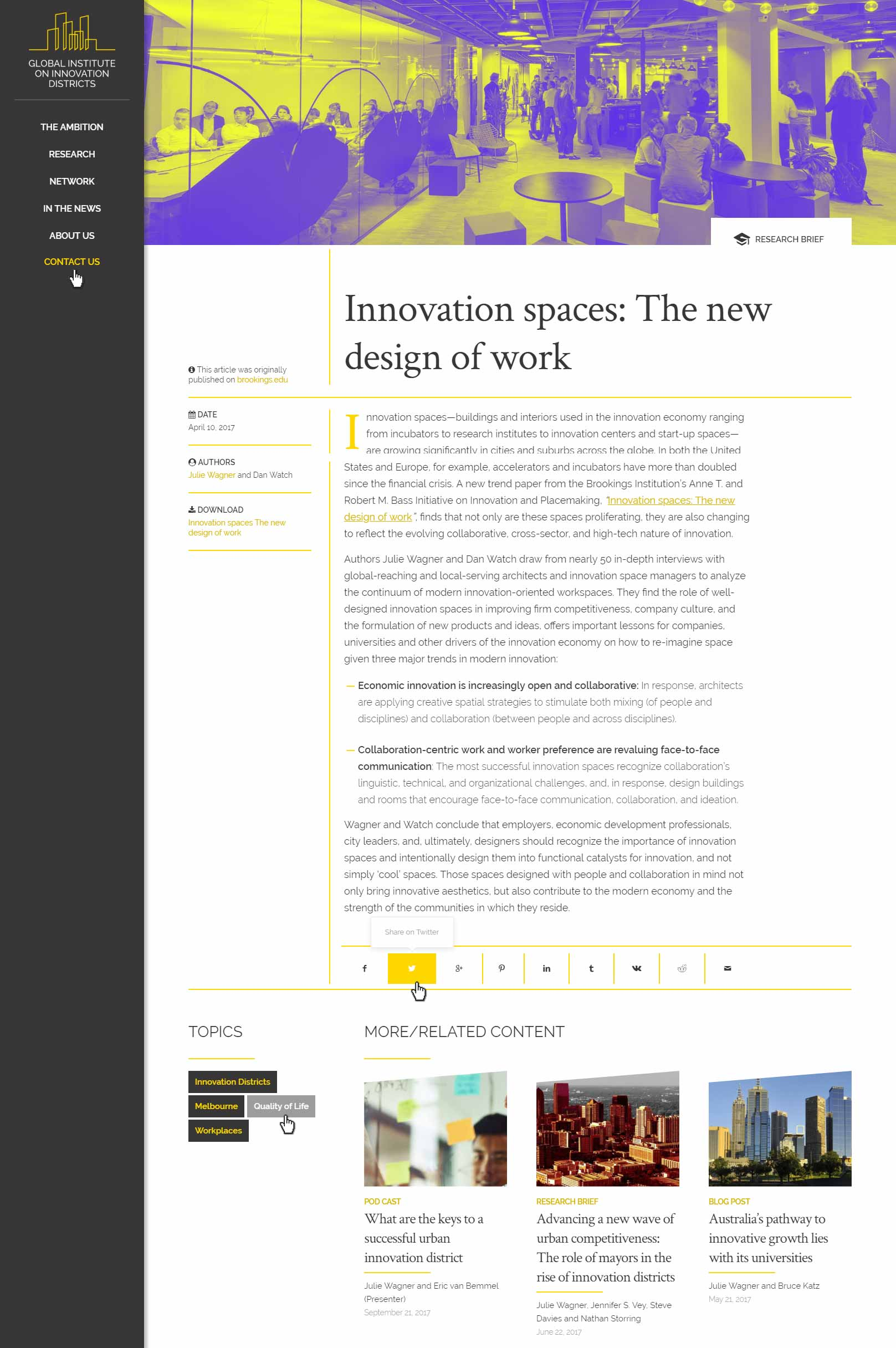 blog article website design