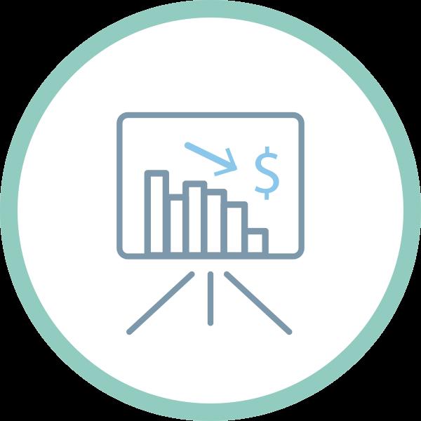 icona logo costi ridotti