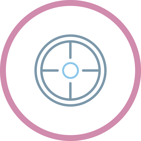 icona target visual identity designer