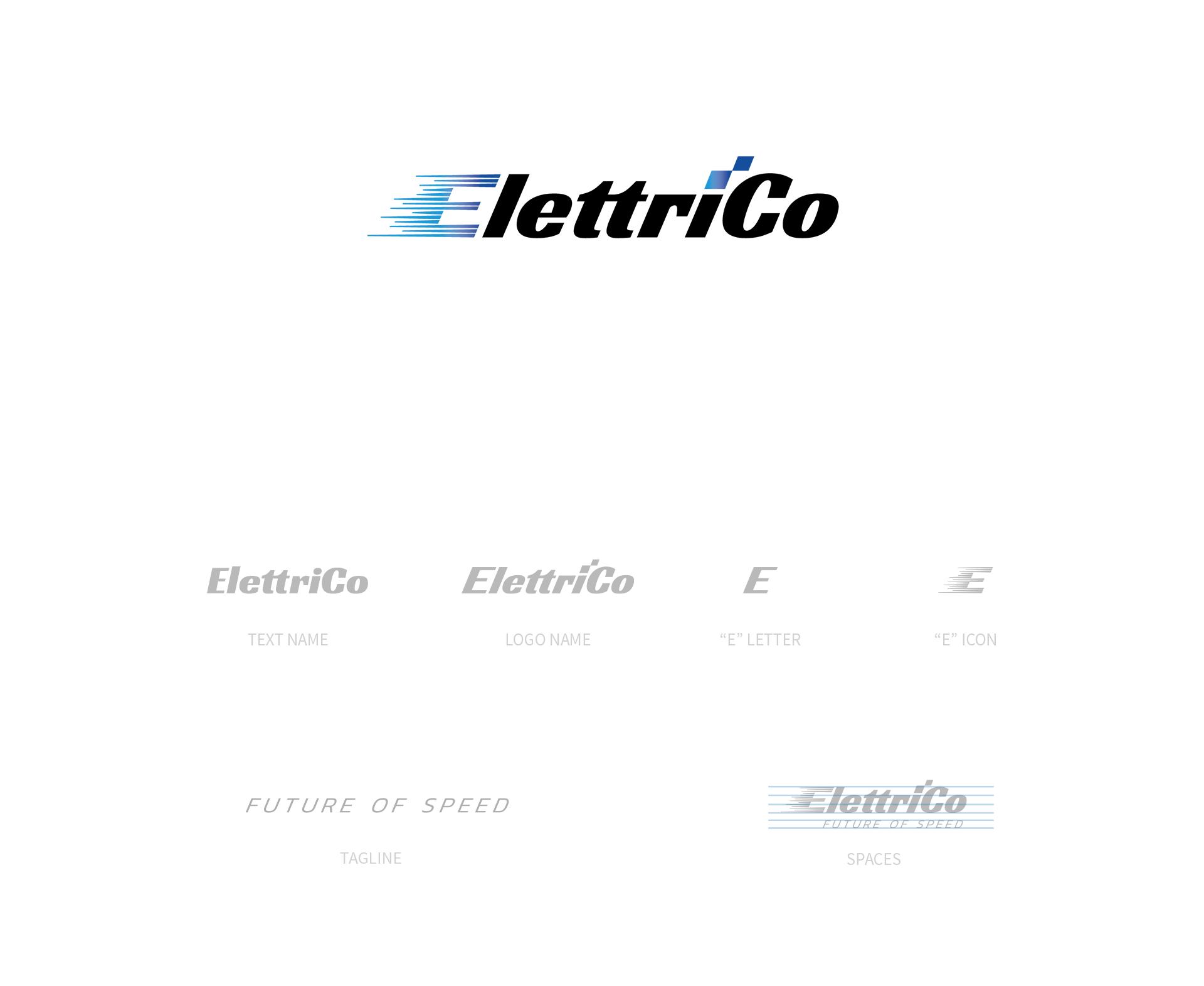 logo startup elettrico design idea