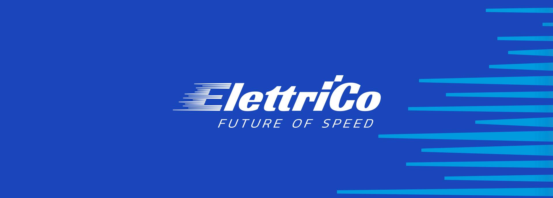 logo startup elettrico colore bianco