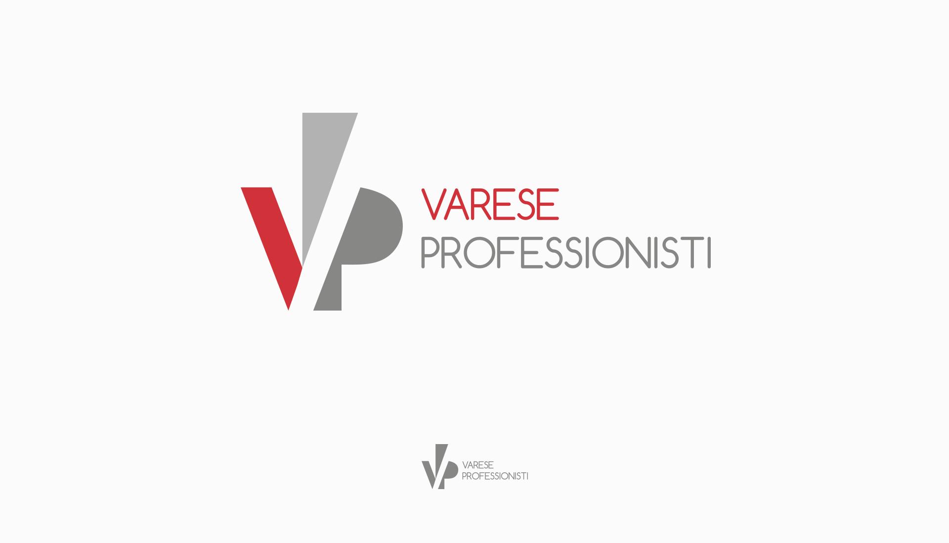 progettazione logo varese professionisti rosso grigio
