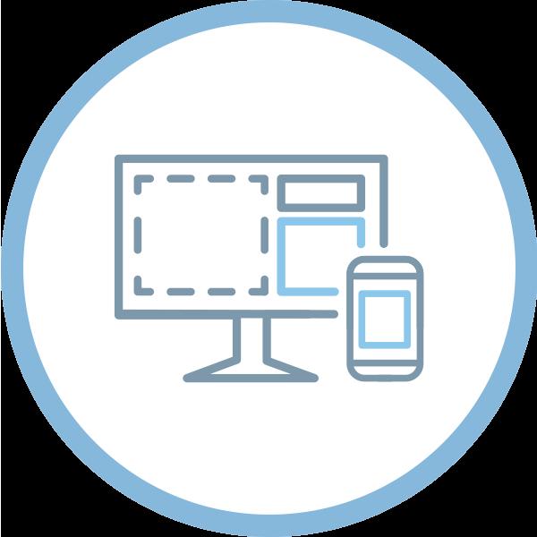 icon professional web design responsive website