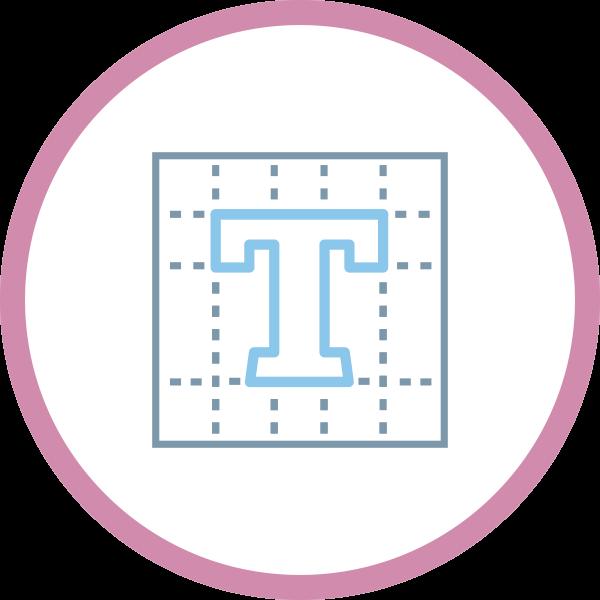icona logo professionale spazio bilanciato