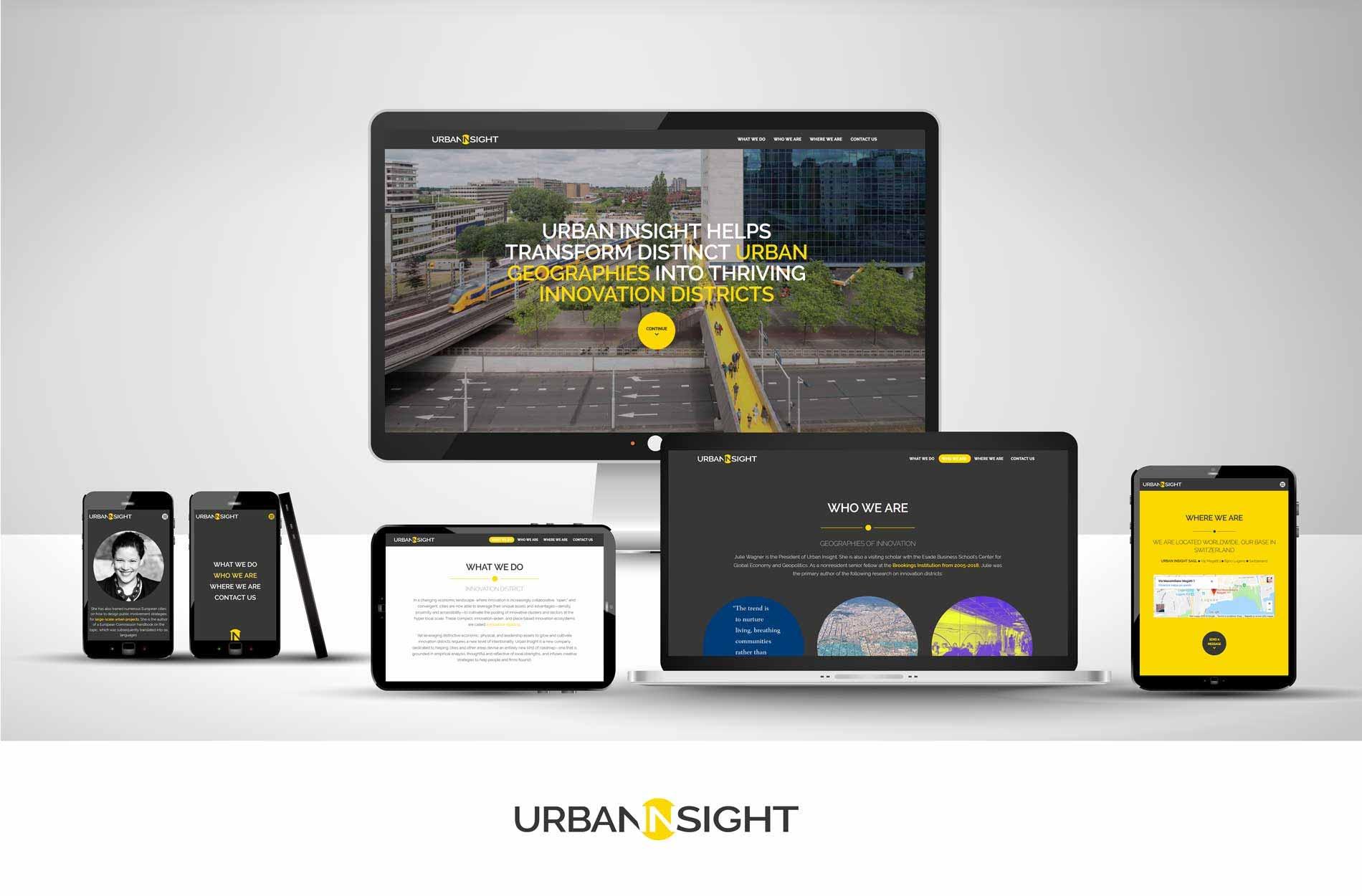 Urban logo design and website design for swiss startup