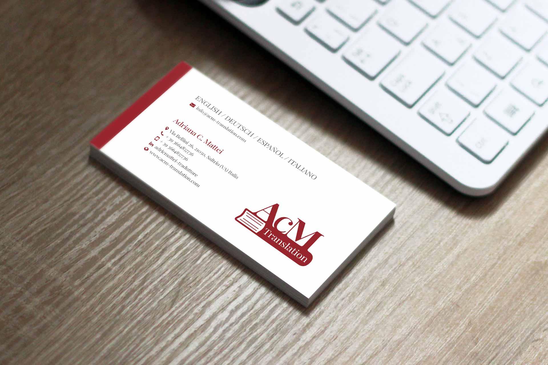 biglietto da visita con logo moderno