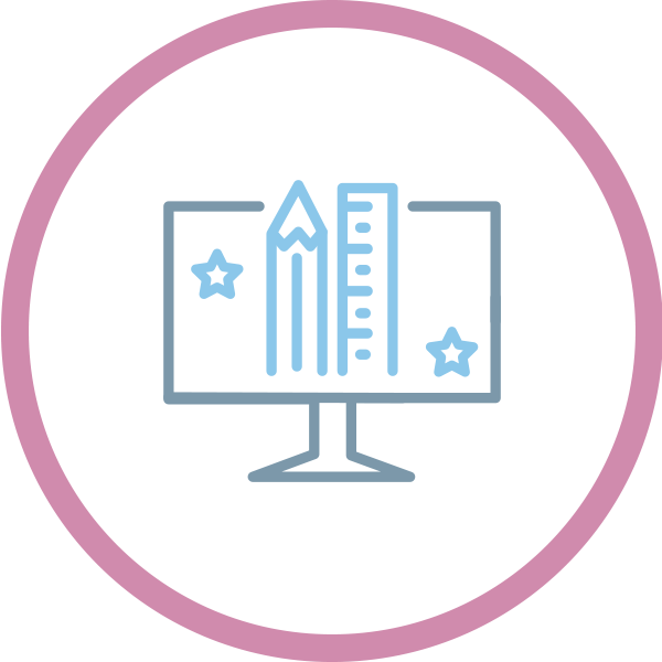 icona servizi di progettazione grafica e visual design