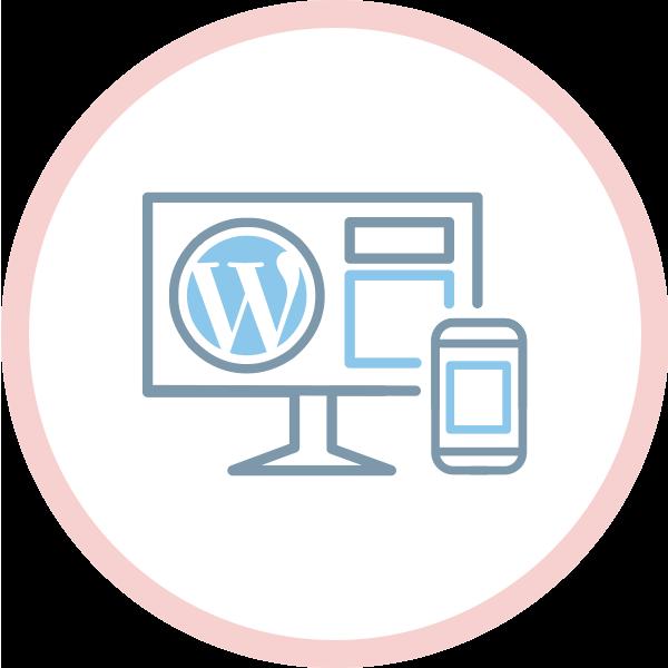 icona sviluppo siti in wordpress professionale