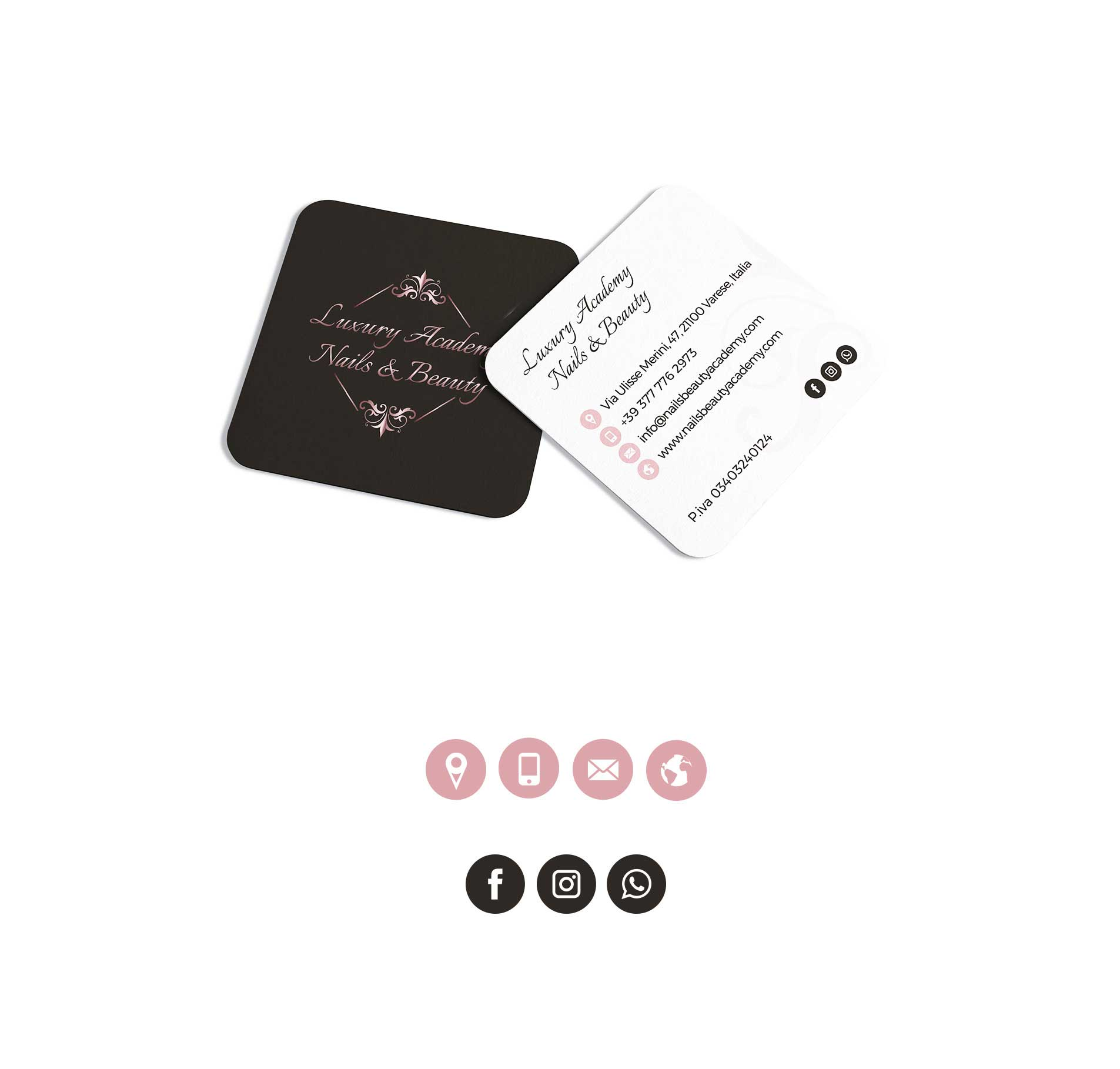 business card visual brand identity