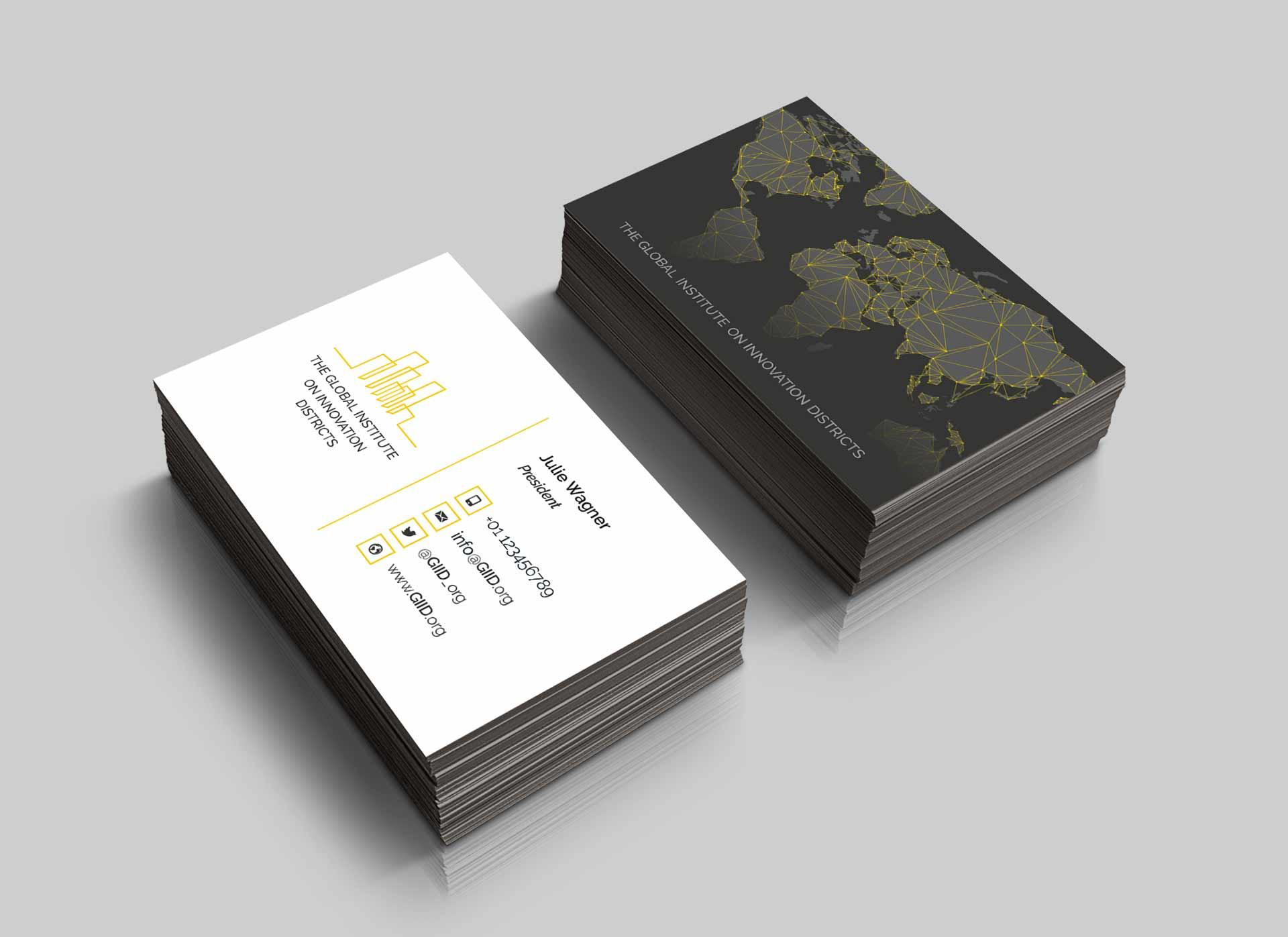 Design business card and web design Lugano