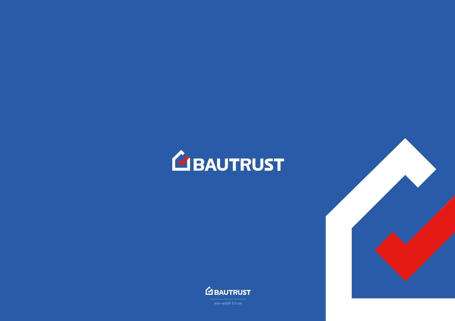 Design logo brand identity negative version blue