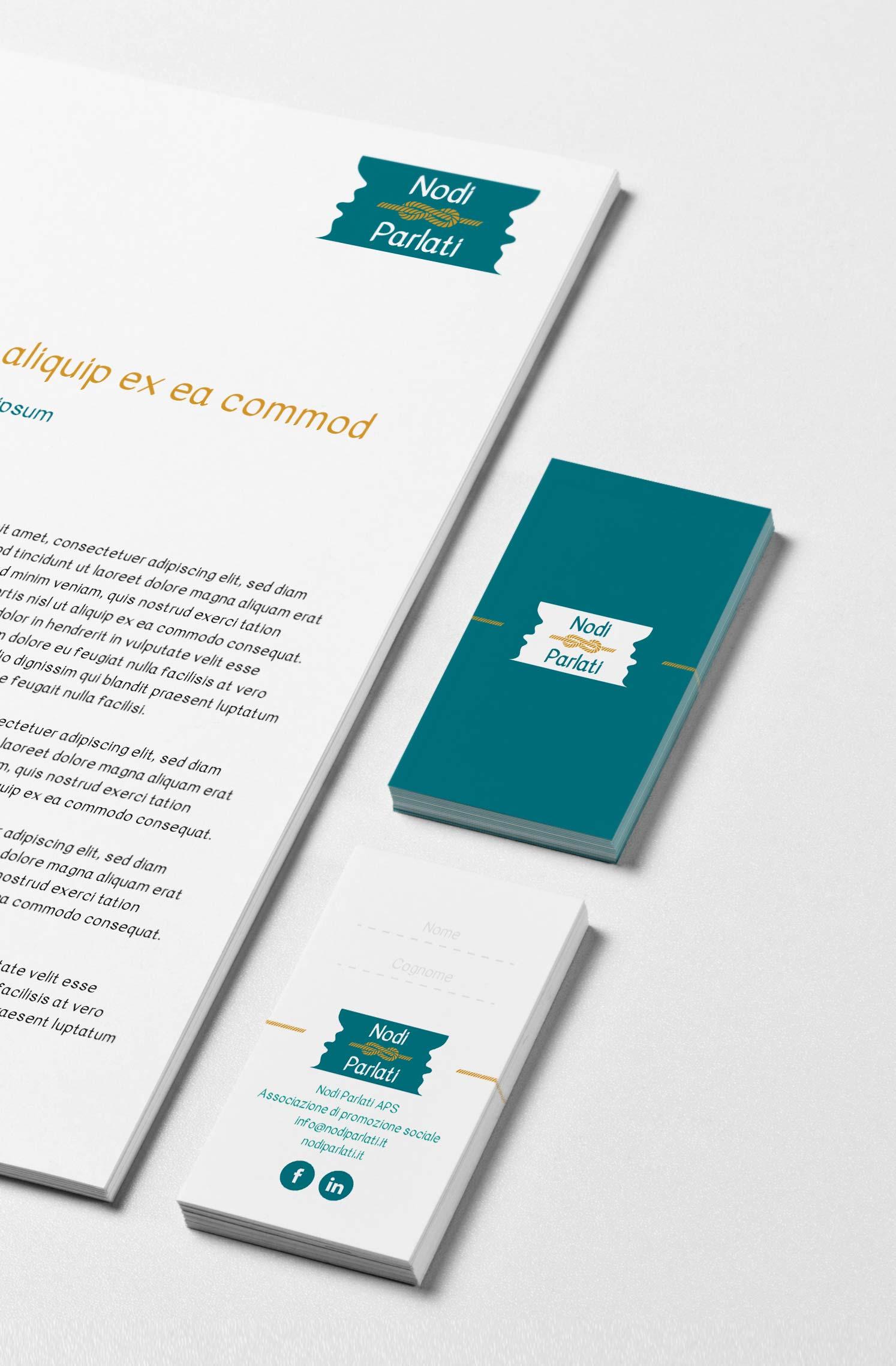 progettazione immagine coordinata biglietto da visita